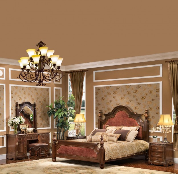 Grosvenor 5-pc Bedroom Set shown in Antique Cocoa finish