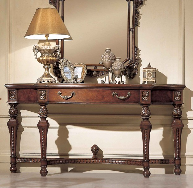 Nantucket Console Table shown in Antique Walnut finish