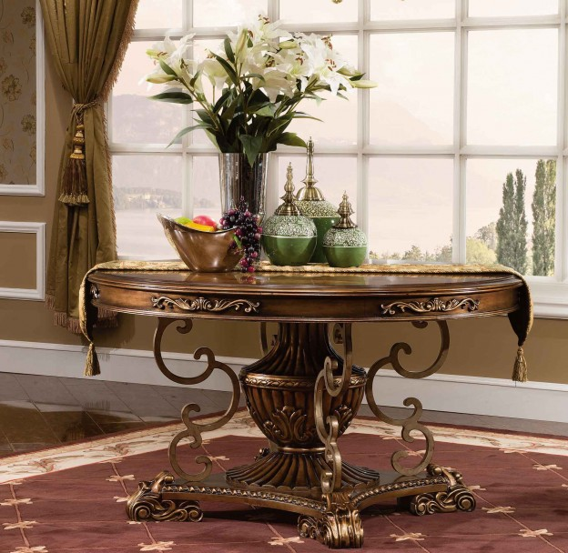 Newhaven Dining Table shown in Parisian Bronze finish