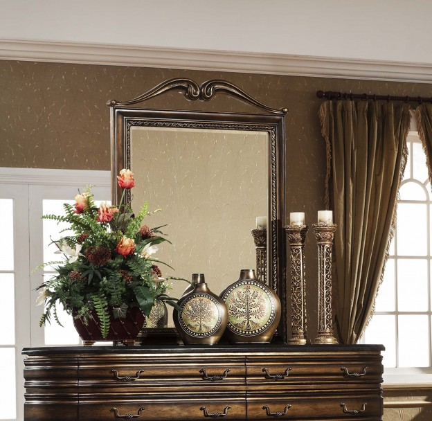 Oxford Mirror shown in Parisian Bronze finish