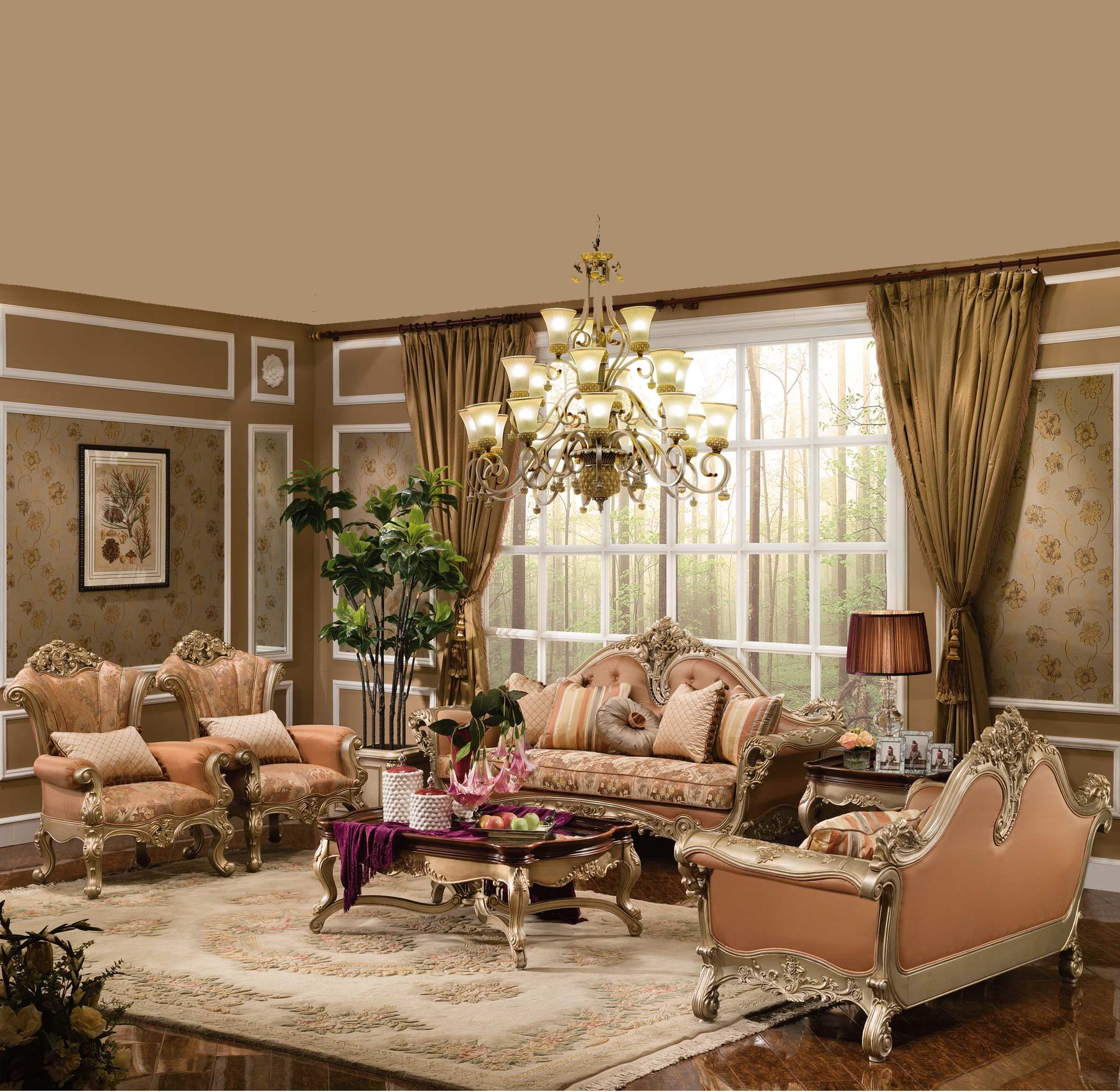 luxury living room furniture nottingham 6 pc living room set 11922