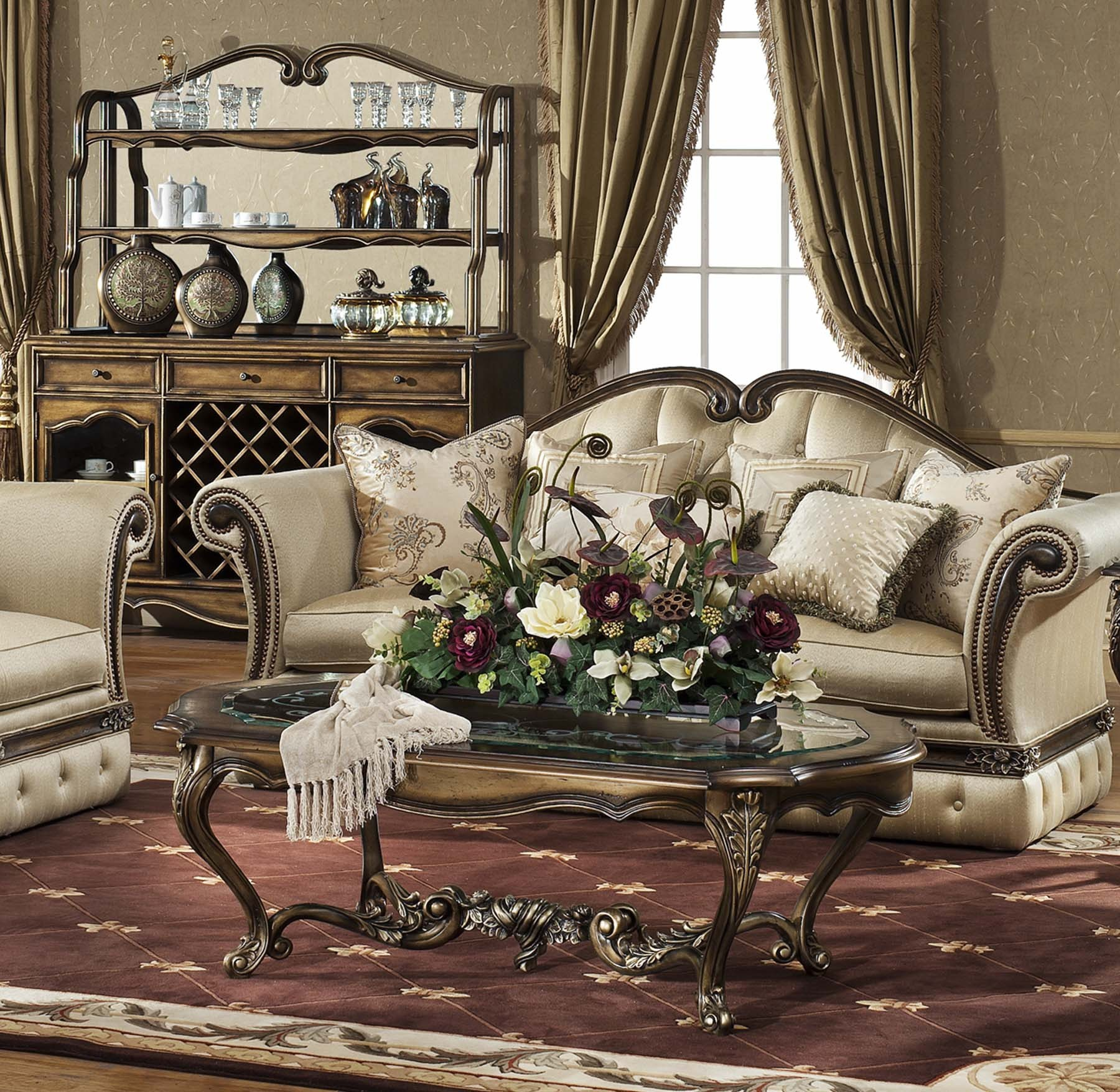 Oxford Living Room Collection Shown In Parisian Bronze