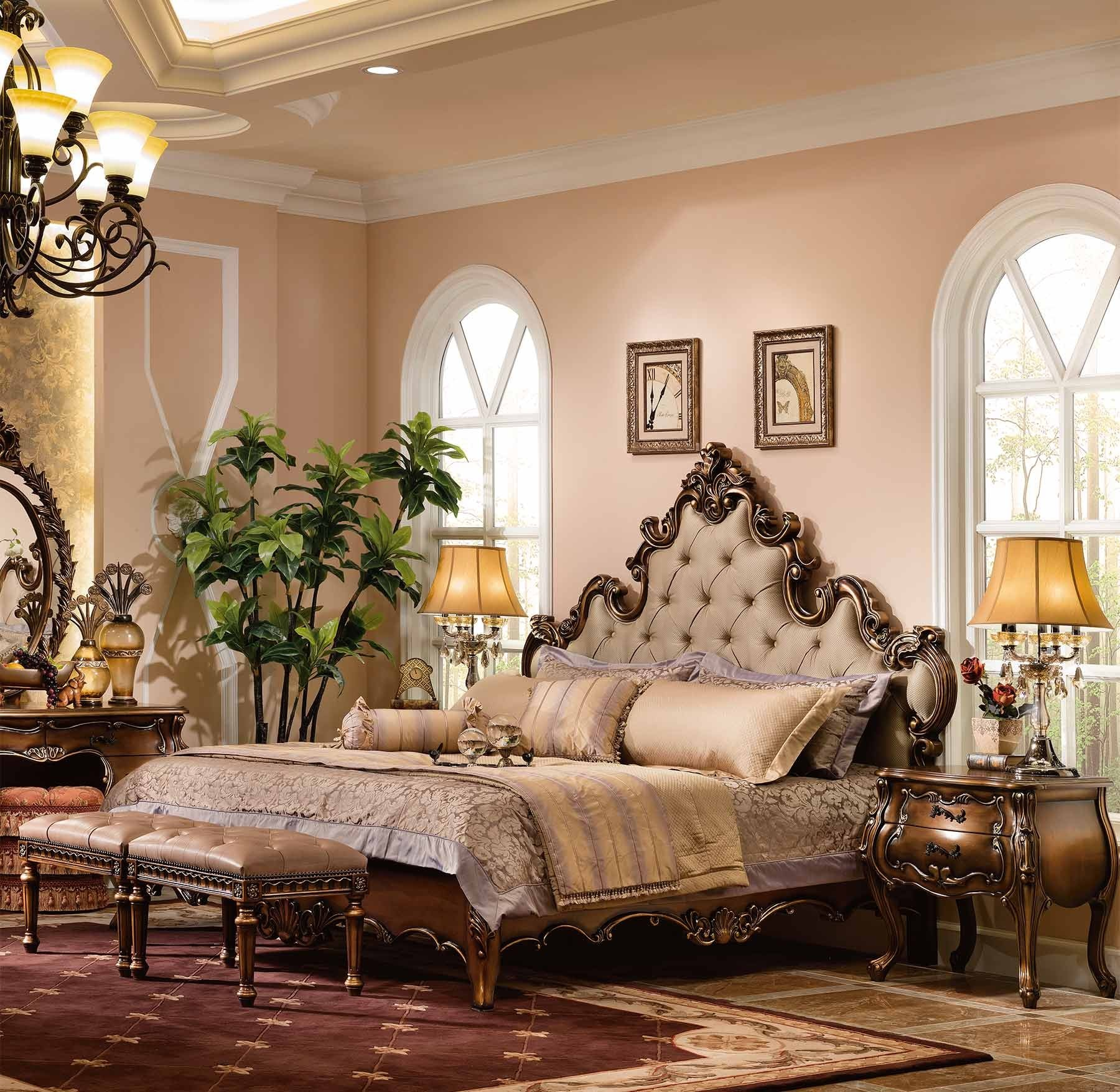 Augustine Bed shown in Parisian Bronze finish