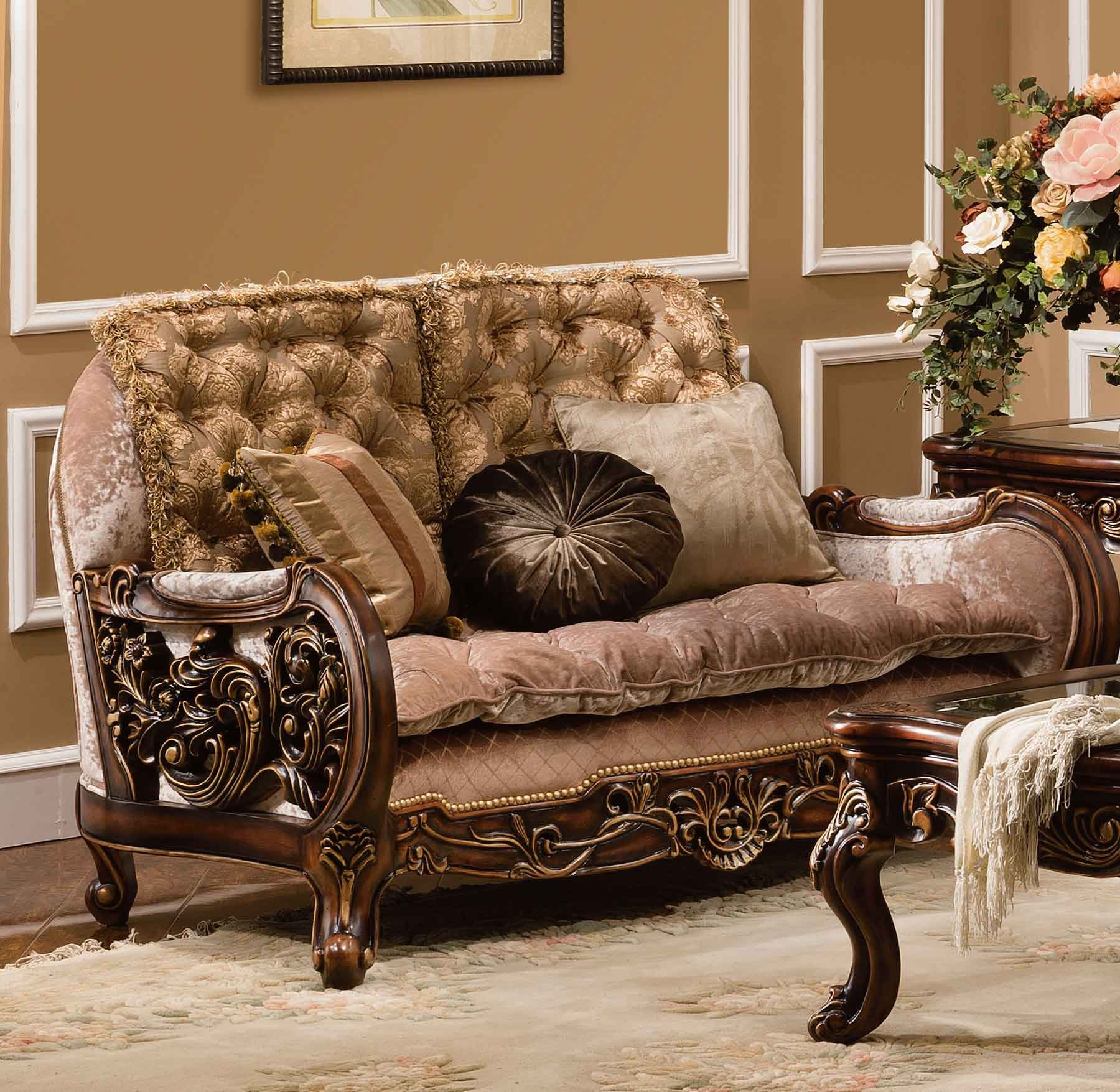 Casabella Living Room Collection Shown In Antique Cherry Finish