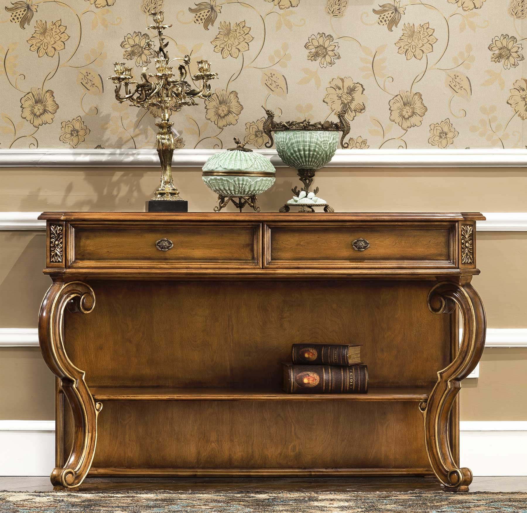 Park Lane Console Table shown in Vintage Cohiba finish