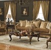 Marlborough 6-pc Living Room Set shown in Antique Walnut finish